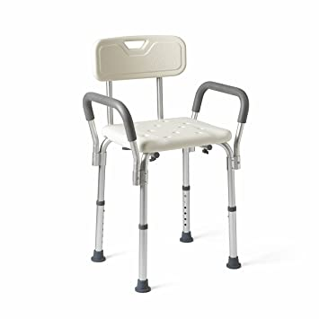 6b87f01541ac Amazon.com  Medline Shower Chair Bath Seat with Padded Armrests and ...