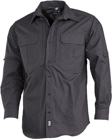 MFH Outdoor – Camisa de manga larga Stake de teflón Rip Stop Tactical Camisa para hombre muchos colores S – XXL: Amazon.es: Ropa y accesorios