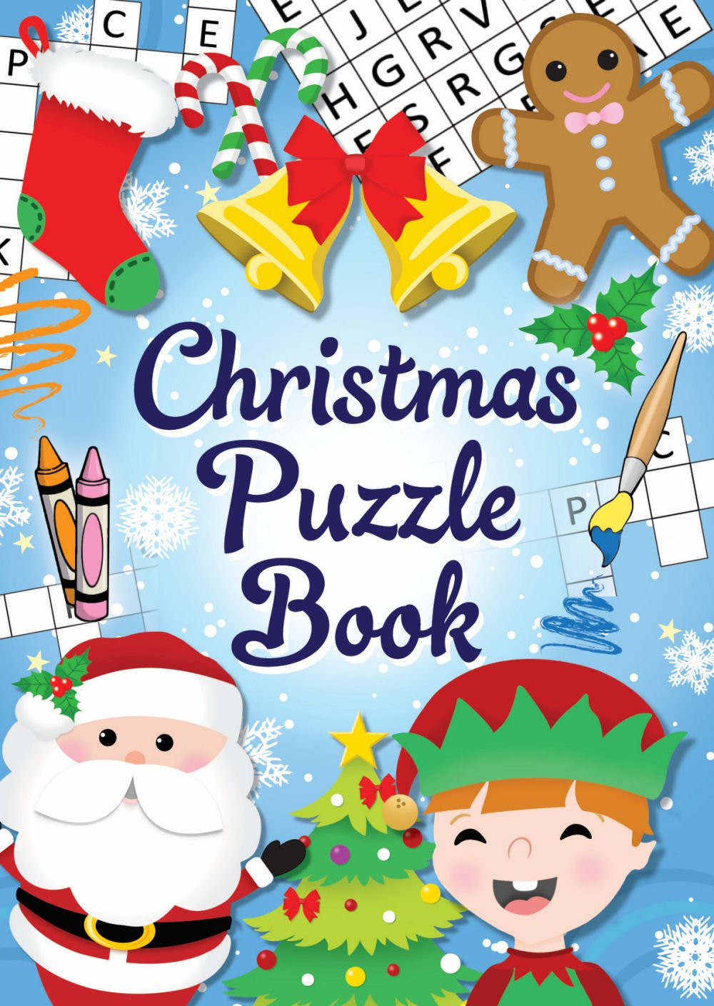 12 Mini Christmas Puzzle Activity Books A6 - Girl or Boys Party Bag Fillers by Christmas Book Henbrandt