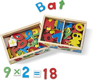 Melissa & Doug Deluxe Magnetic Letters and Numbers Set (89 Wooden Magnets, Great Gift for Girls and Boys - Best for 3, 4, 5, and 6 Year Olds)