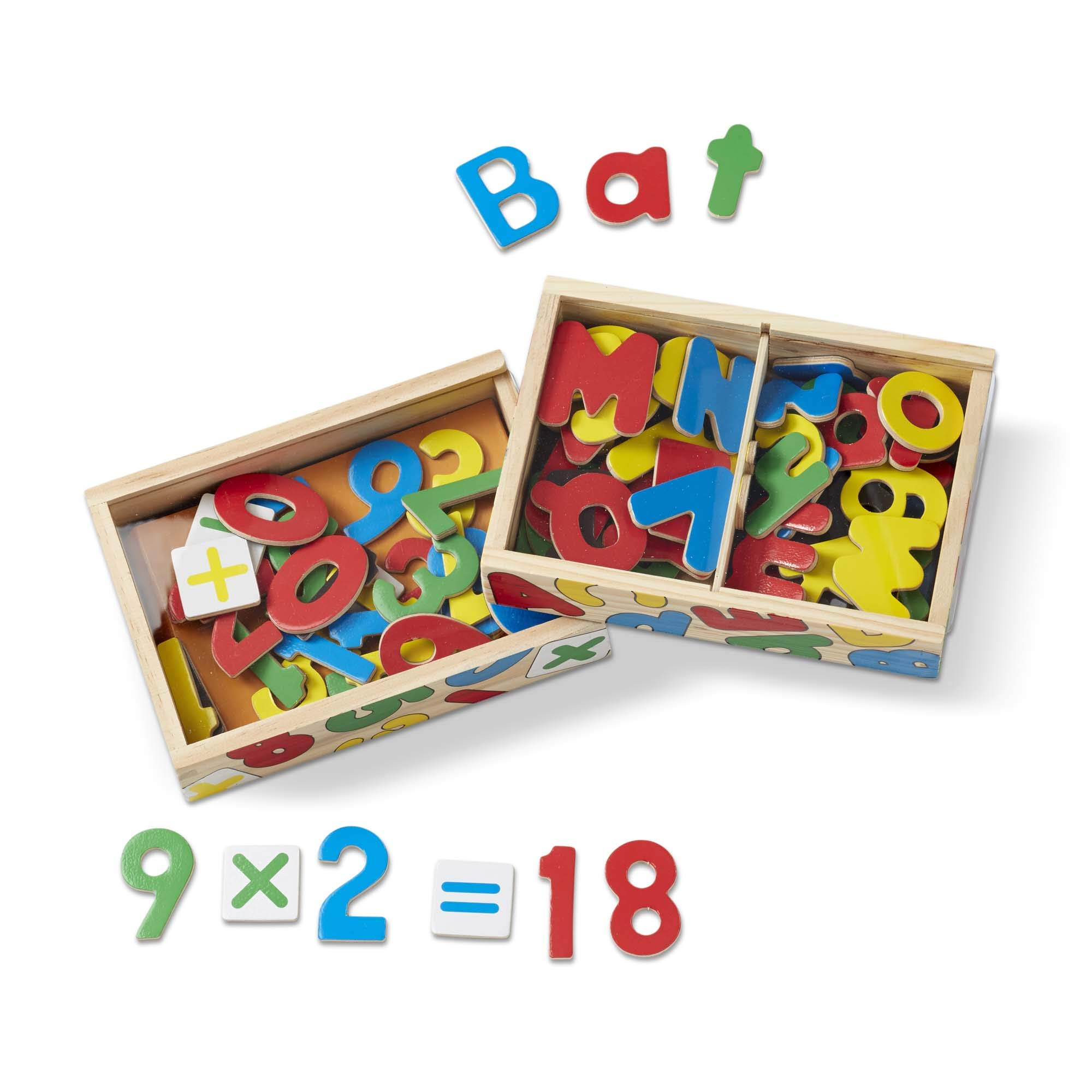 Melissa & Doug Deluxe Magnetic Letters and Numbers Set (89 Wooden Magnets, Great Gift for Girls and Boys - Best for 3, 4, 5, and 6 Year Olds) by Melissa & Doug