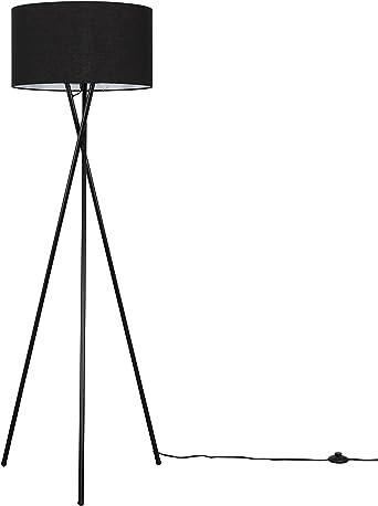 Gloss Black Metal Tripod Floor Standard