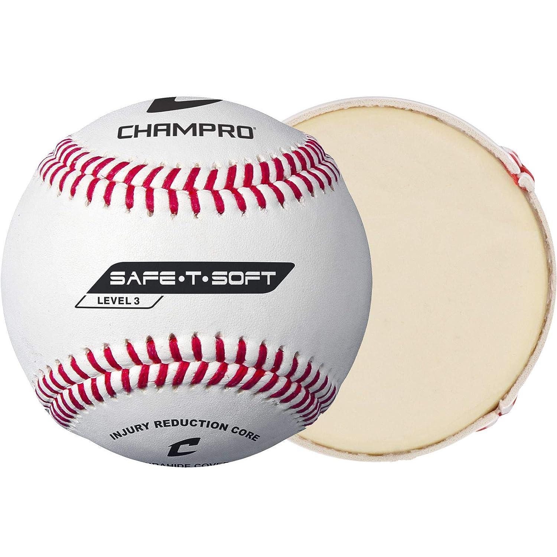 Champro Safe-T-Soft - Balón de béisbol (Blanco, 22,86 cm, 1 docena ...