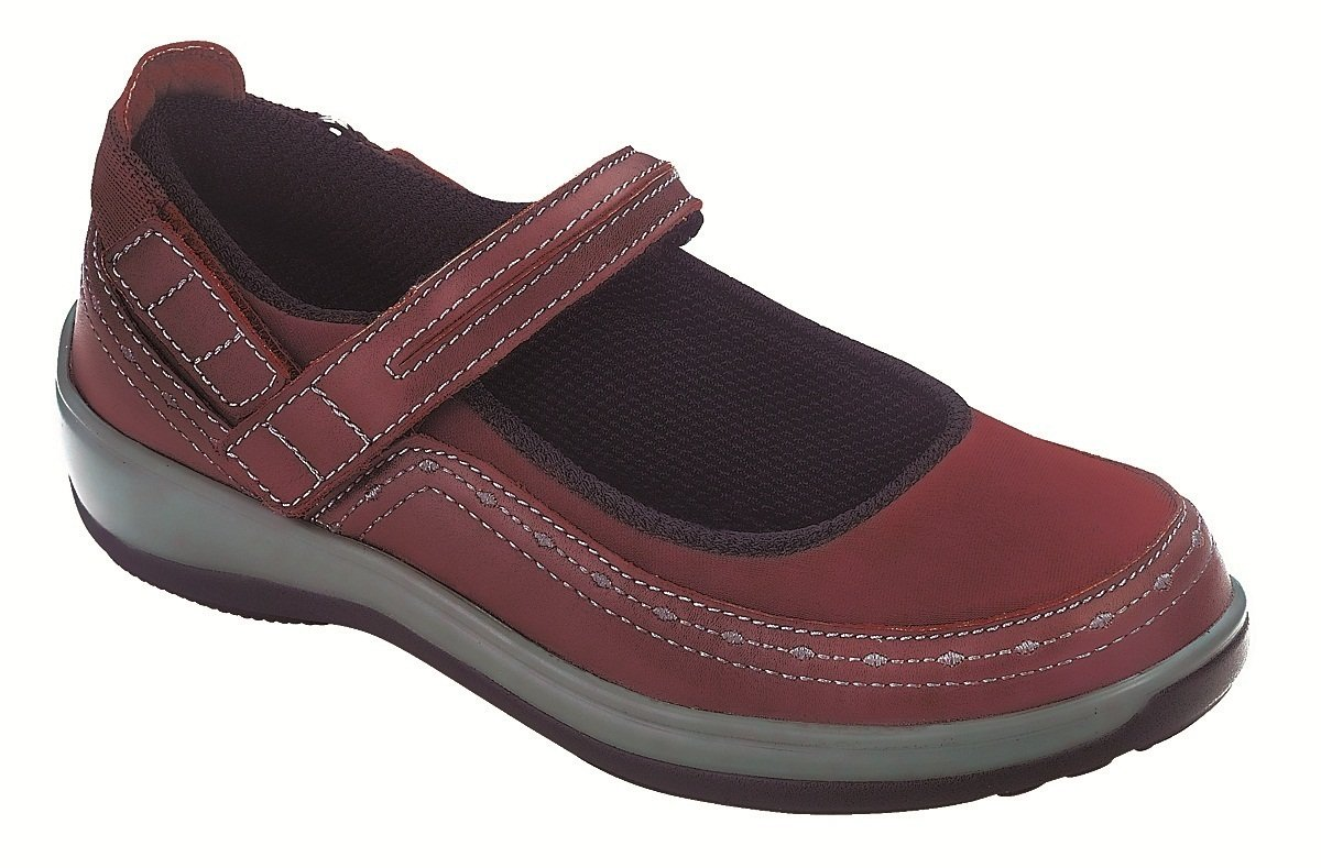 Orthofeet 879 Women's Comfort Diabetic Therapeutic Extra Depth Shoe Lycra Velcro - Red Lycra -8.0 Wide (D) Red/Lycra Velcro US Woman