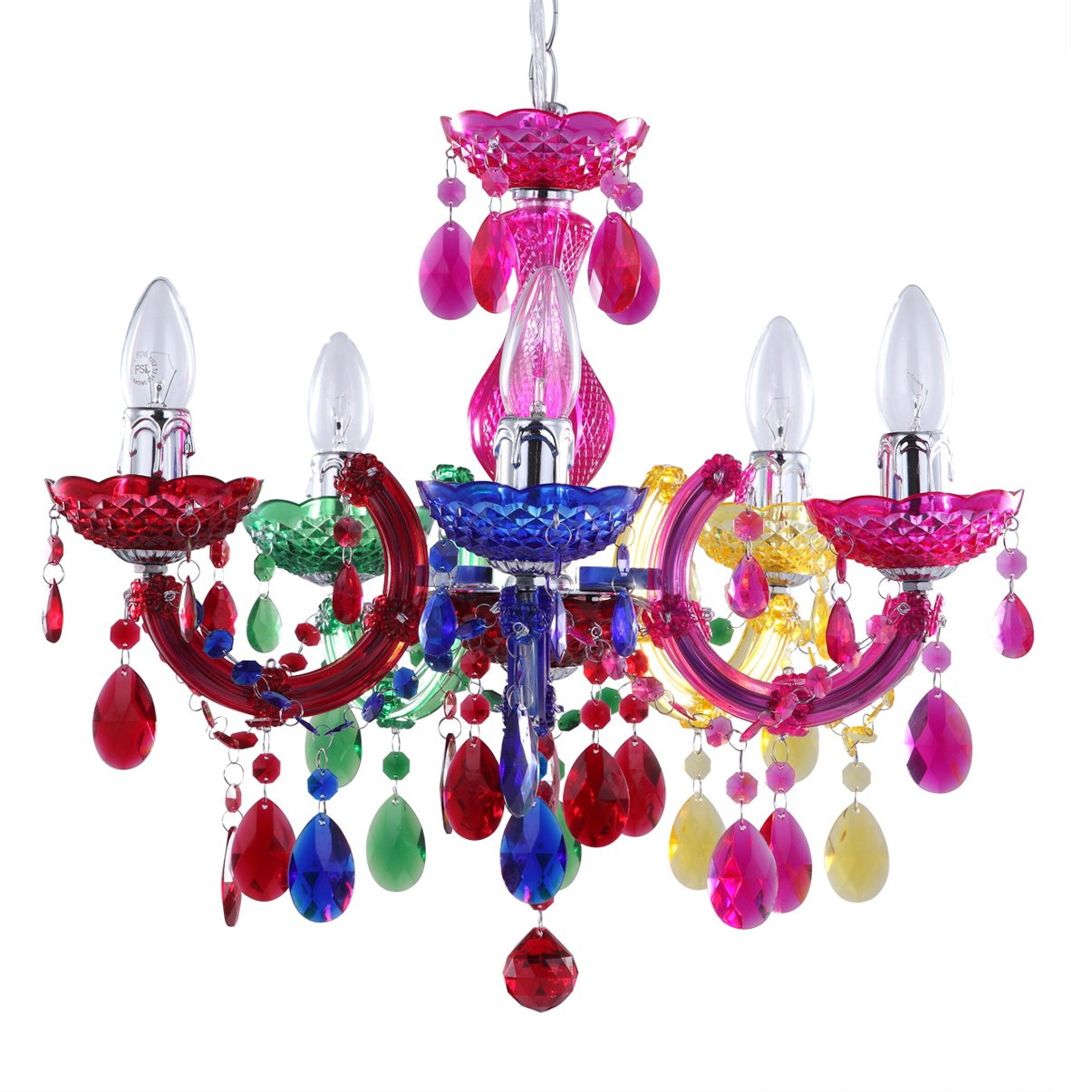 5 light dual mount chandelier marie therese white chrome multi 5 light dual mount chandelier marie therese white chrome multi coloured black silver acrylic bedroom living room ceiling light litecraft aloadofball Image collections