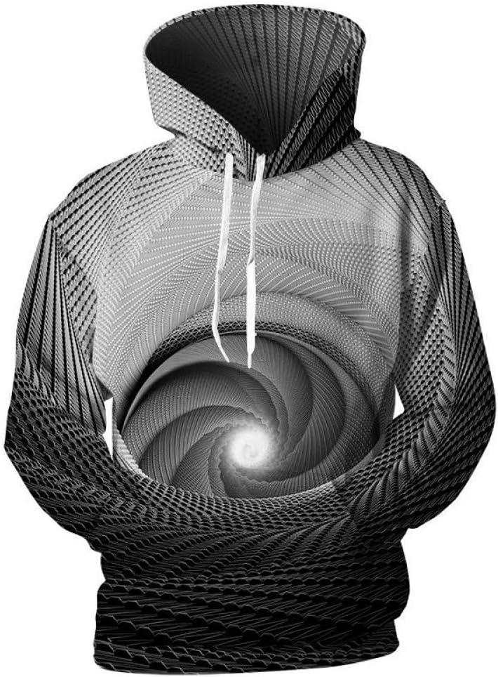 PU Printemps et Automne 3D Hoodies Hommes Swirl Denso Motif 3D Imprimer Hommes Hoodies Sweats Sweats Hip Hop Hoodies Cool 3D Pull Manteau Manteau Outwear Homme,* L ** L