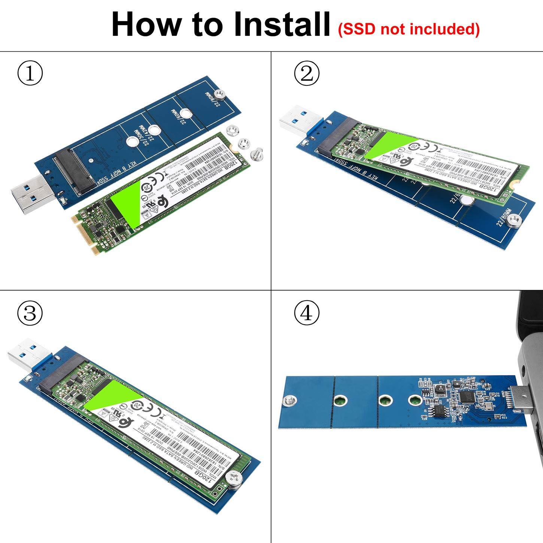 Amazon.com: li-sun M.2 SSD adaptador, B clave SSD M.2 ...