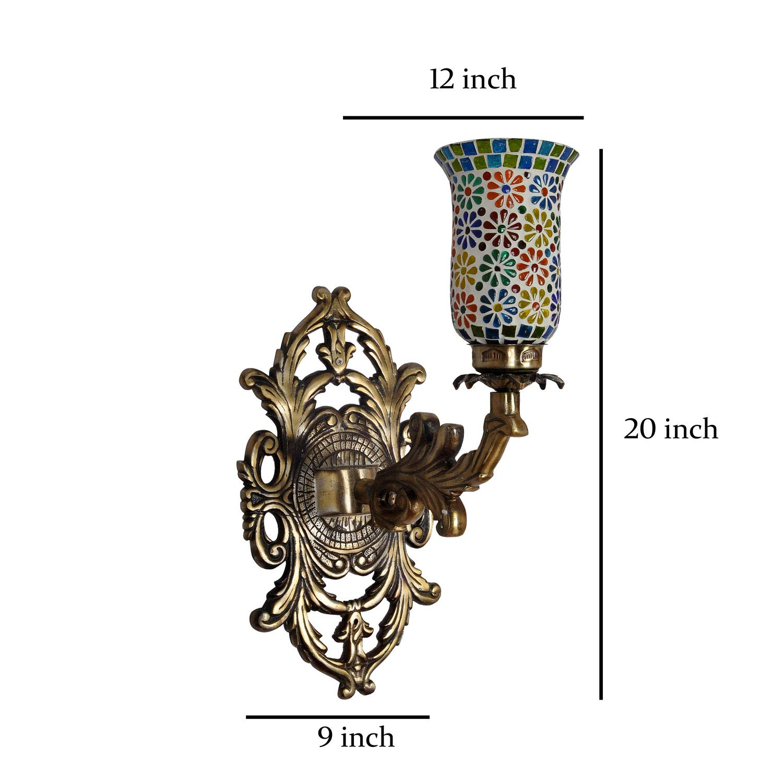 Amazon.com: Lalhaveli Mosaic Glass Designer Metal Fitting 1 ...