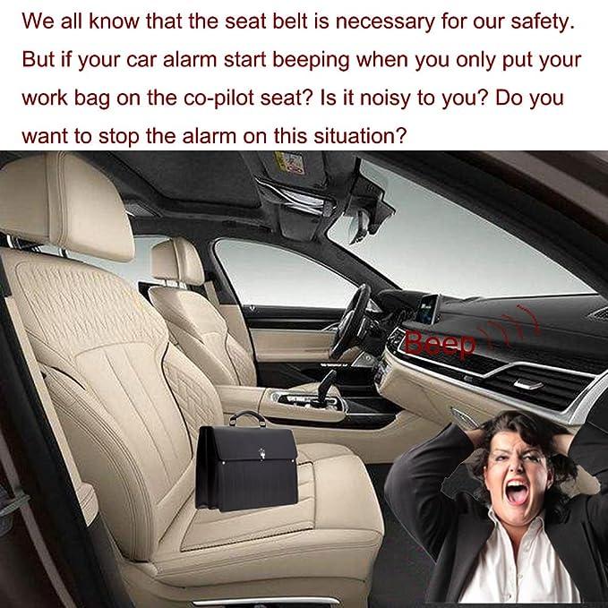 Boonor 2ps Cinturones de seguridad De Seguridad De Coche Universal De Fibra De Carbon Clip Abrazadera Enganche Conector de Cinturon Seguridad para Sillas ...