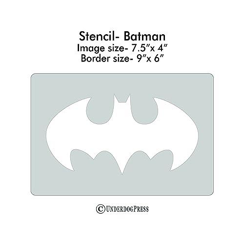 Amazon Xl Stencil Classic Batman Symbol Handmade