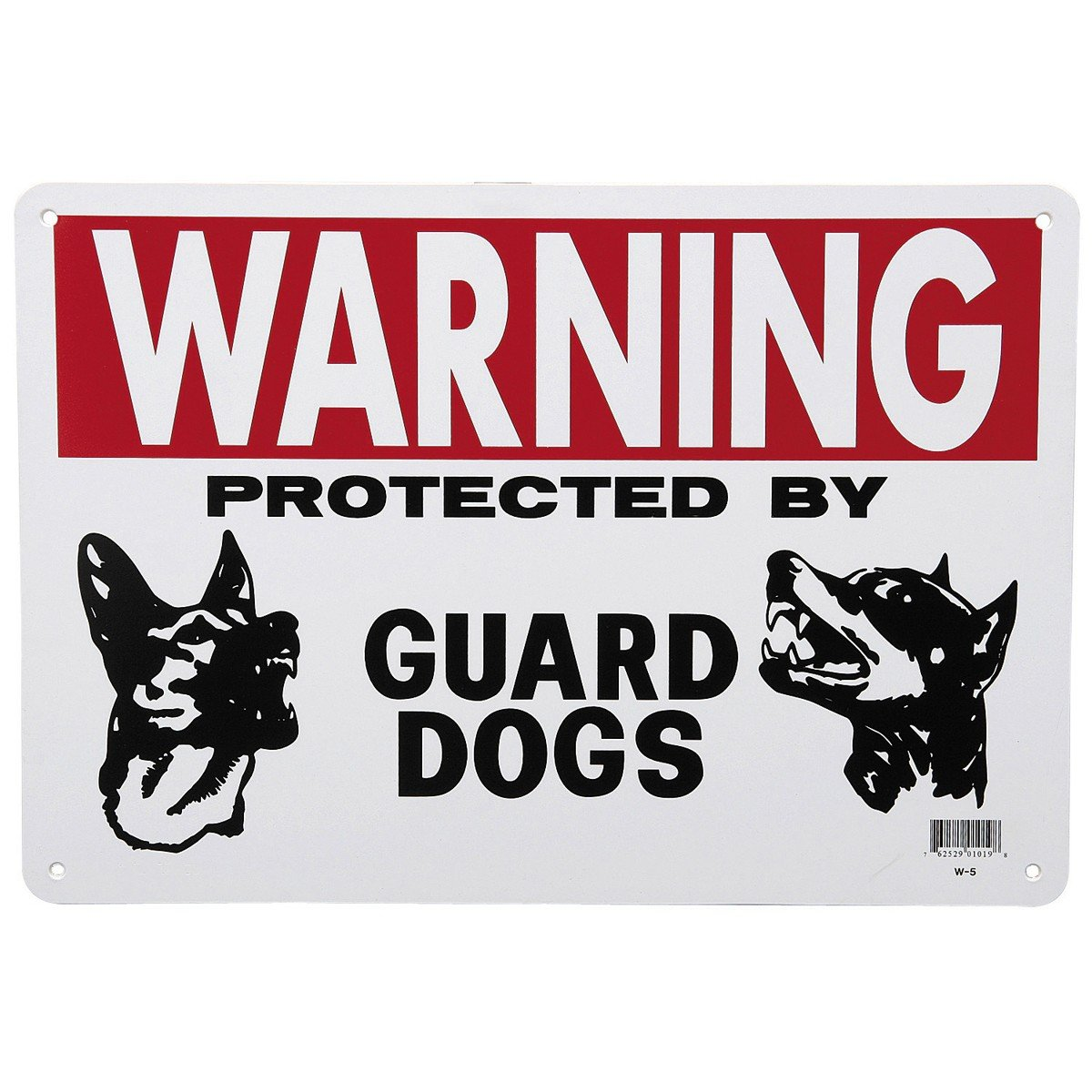 14 in. x 10 in. Guard Dog Sign 90 Day Warranty 90 Day Warranty