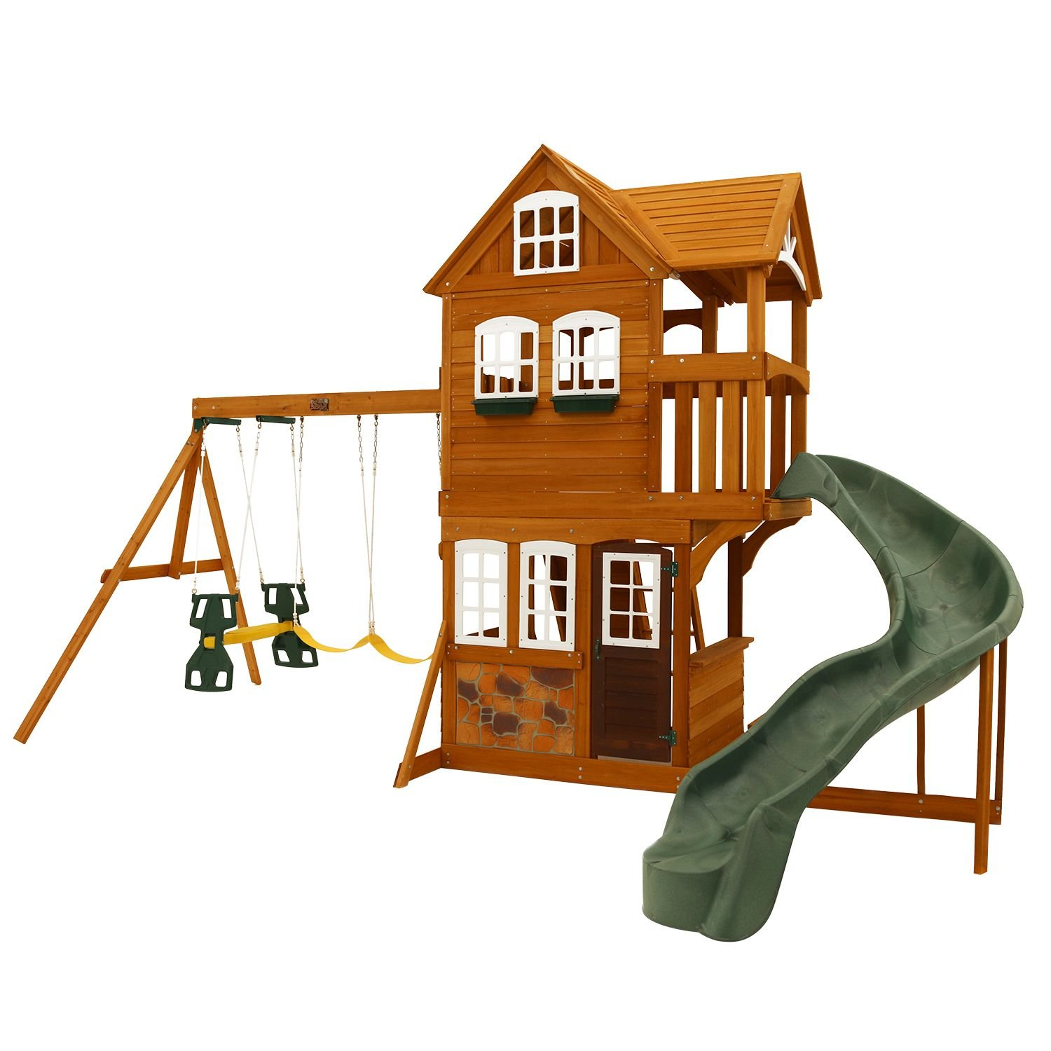 Amazon Com Summerstone Cedar Summit Playset Toys Games