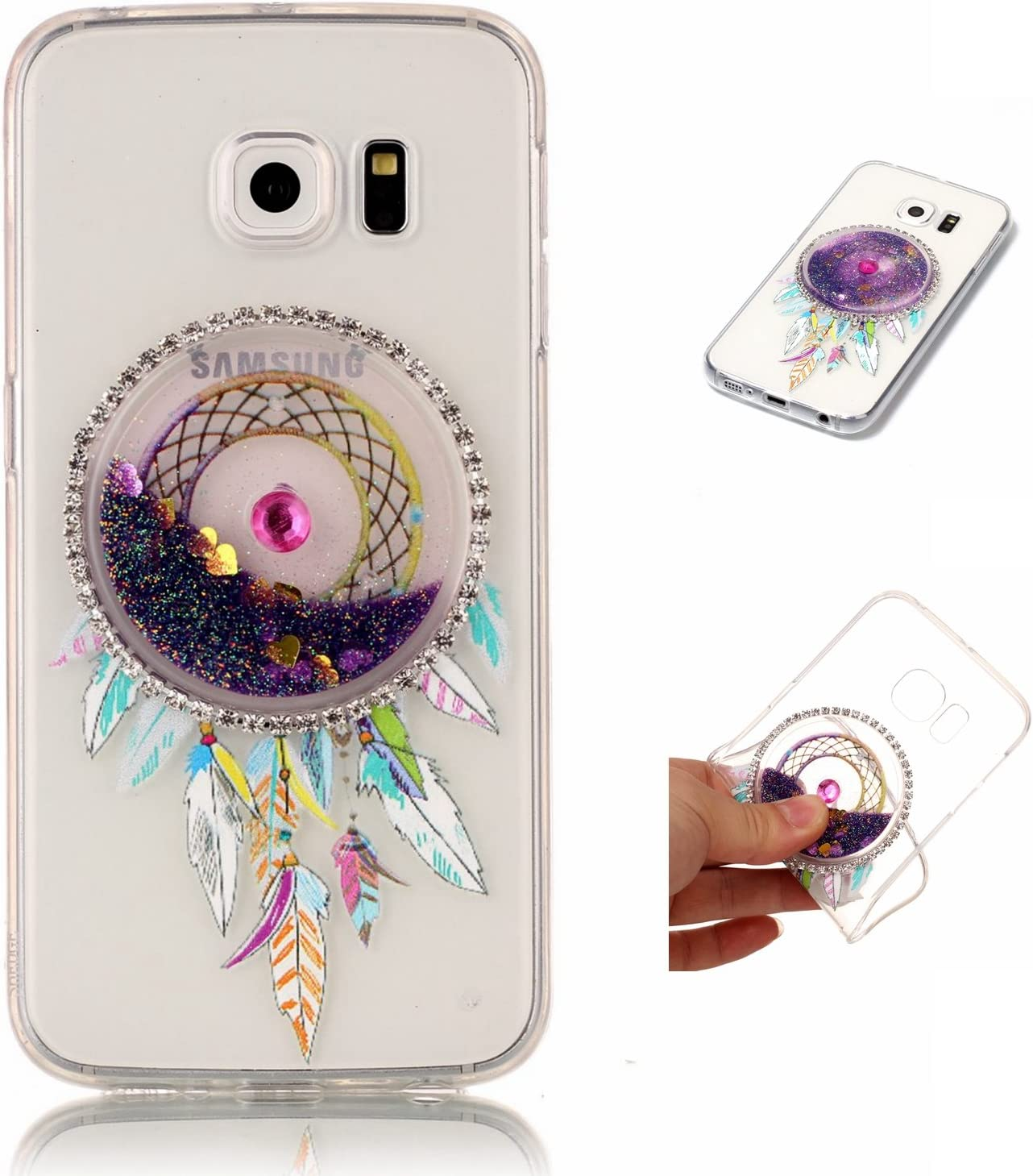 Samsung A3 2017 Hülle Spiritsun Glitter Liquid Elektronik