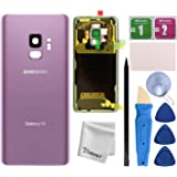 Vimour Back Cover Glass Replacement for Samsung Galaxy S9 G960U All Carriers with Pre-Installed Camera Lens, All The Adhesive