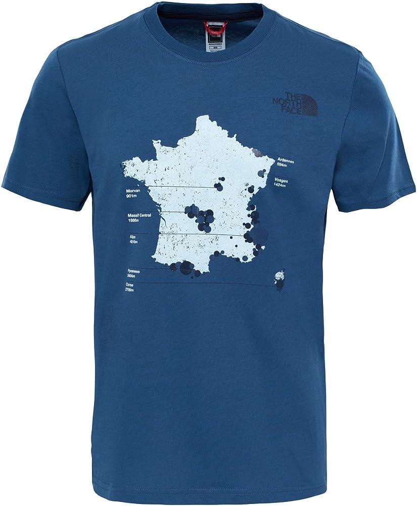The North Face Country Peak Camiseta, Hombre, Azul (Shady Blue), Large (Tamaño del Fabricante:L): Amazon.es: Deportes y aire libre