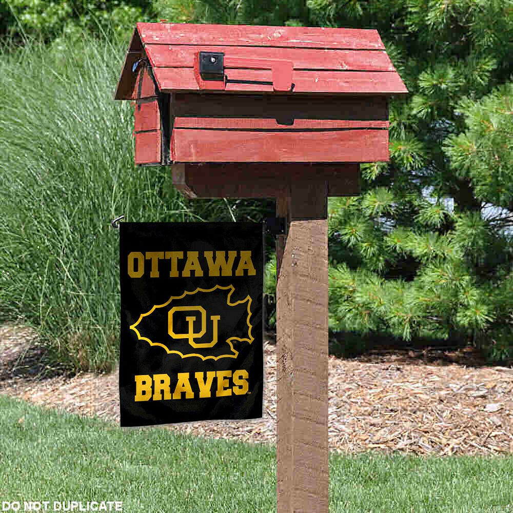 College Flags and Banners Co Ottawa Braves Garden Flag