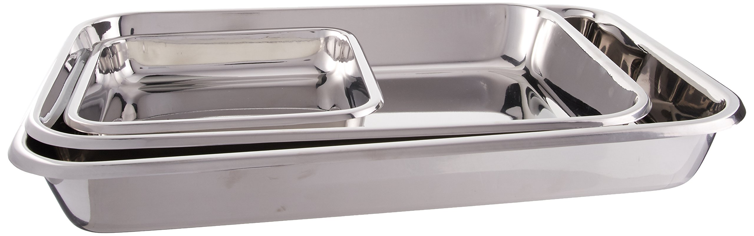 Hammer Stahl 3 Piece Rectangular Bake Pan Set, Stainless Steel