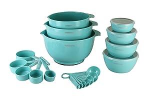 Farberware 5212677 Professional Baking Set 23-Piece Mix and Measure, Aqua Sky