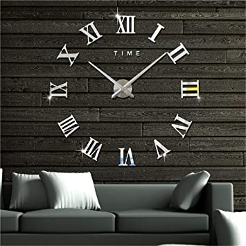 Artensky Uhren Wanduhr Große Römische Zahlen Dekoration Wand