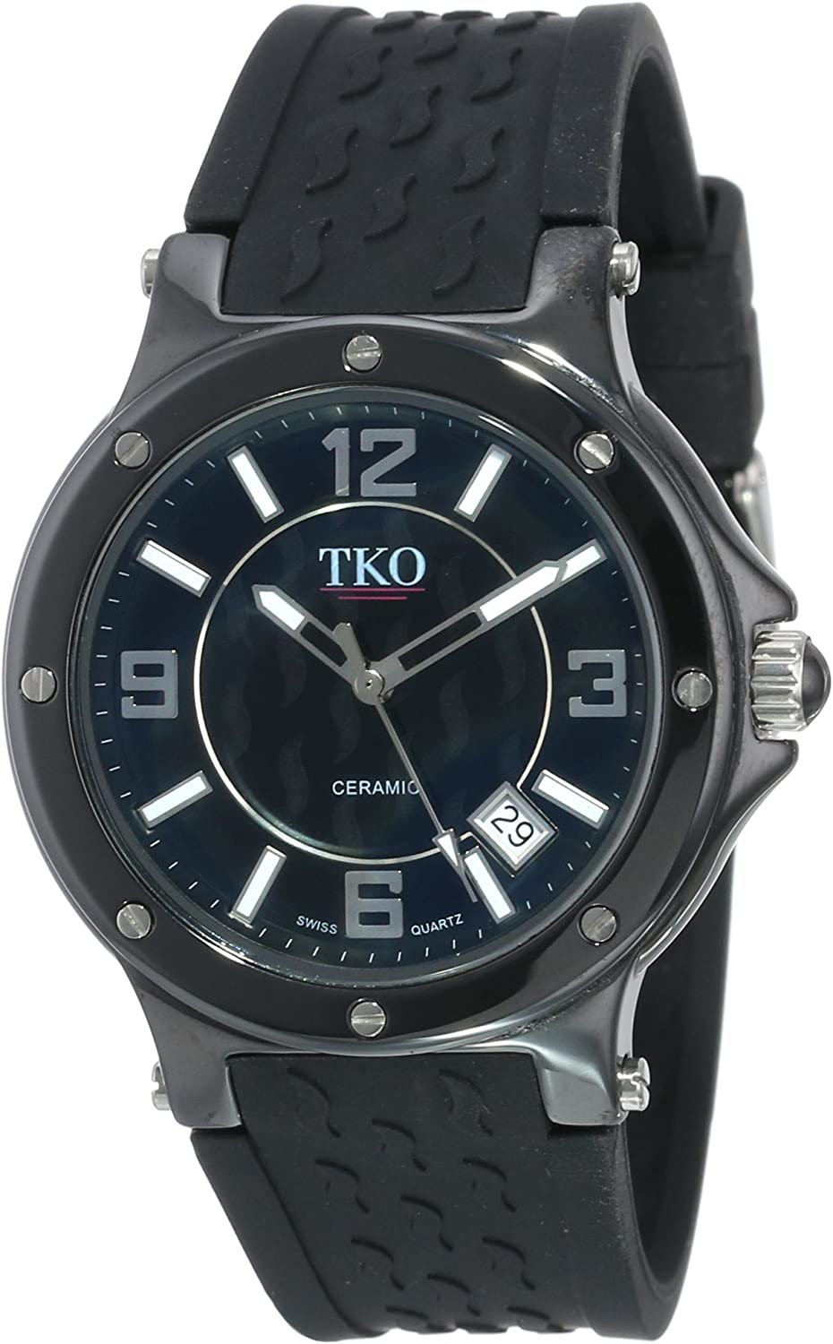 TKO ORLOGI Women s Genuine Ceramic Rubber Strap Watch