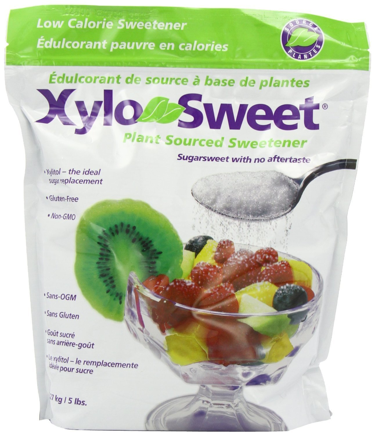 *NEW* Xlear Xylosweet Bag, 5-Pound - with set of FREE stainless steel''Practick Solutions'' MEASURING SPOONS by Xlear (Image #2)