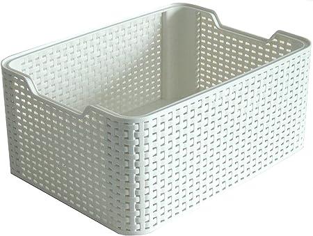 Curver Style, Caja Organizadora, Blanco Vintage, S (7 L): Amazon ...