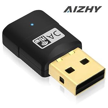 600 Mbps USB WiFi Dongle Adaptador de red inalámbrica de doble banda Color, 2,
