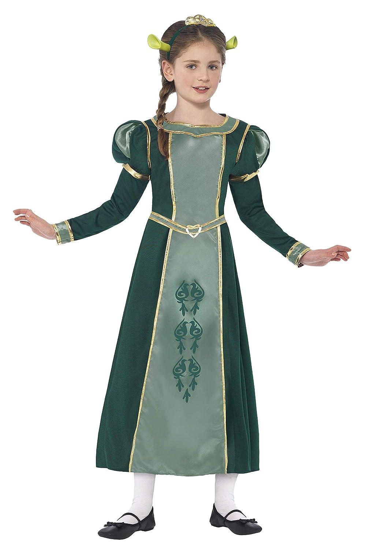 Smiffy's 20491M - Shrek Principessa Fiona Costume Verde con Abito da Tiara Fascia & Orecchie, M
