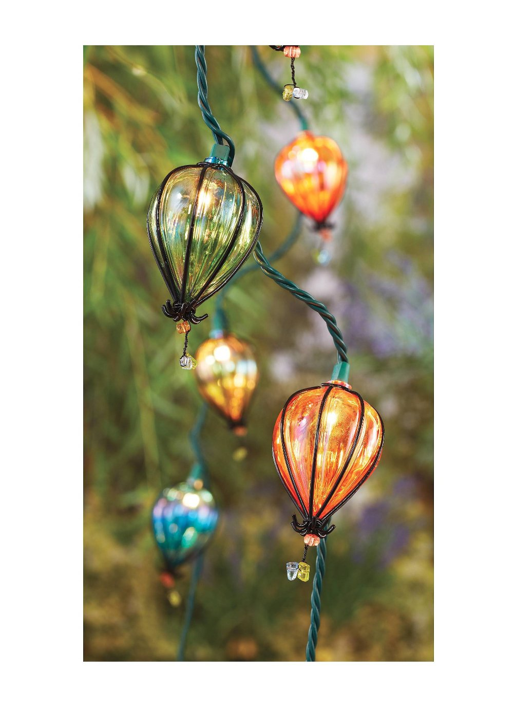 Patio Garden Lights Indoor Outdoor 10 String Bulb Strand