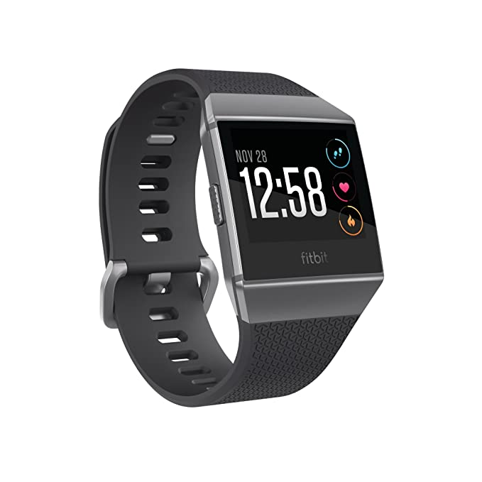 Amazon.com: Fitbit Ionic Smartwatch, Charcoal/Smoke Gray ...
