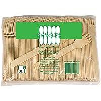 Perfect Stix, Tenedores Desechables de Madera, 100 Piezas