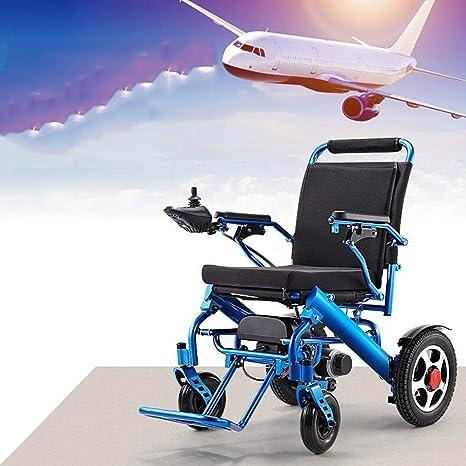 Lunzi Sillas de ruedas eléctricas, ligeras, plegables y de ...