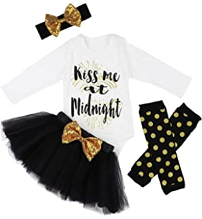 a1a6973cf260 Amazon.com  Unique Baby Girls Midnight Kiss New Years Eve Party Tutu ...