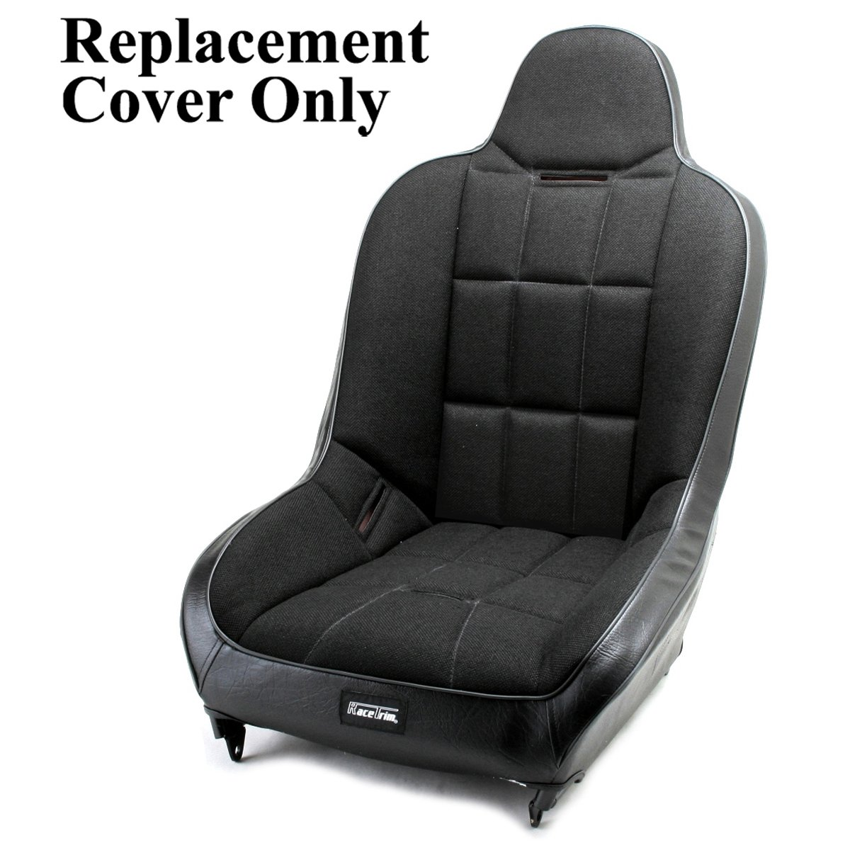 Empi 62-2794-7 Race Trim X-Wide Hi-Back Seat Cover Only Black Cloth//Black Vinyl