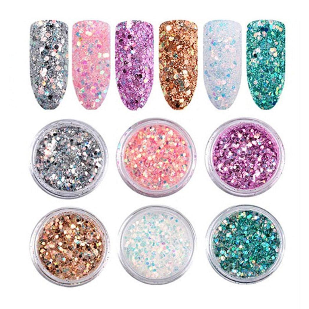 Amazon Com Glitter Holographic Iridescent Nail Art Wine Glass