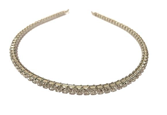 Simple Narrow Women's Full Crystal Rhinestone Headband Hair Band Bridal Prom Formal headband Hair Accessories