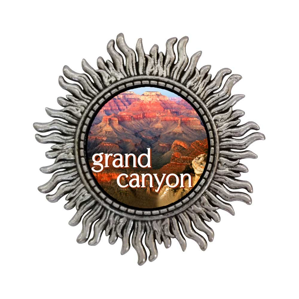 GiftJewelryShop Ancient Style Silver Plate Travel Grand Canyon Sun Shape Pins Brooch