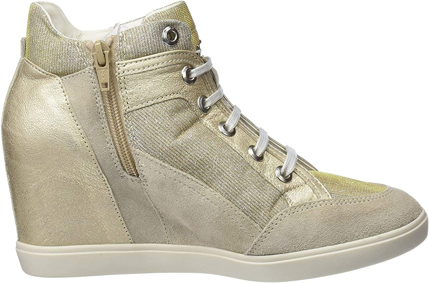 Womens Suede Wedge Sneakers/Boots
