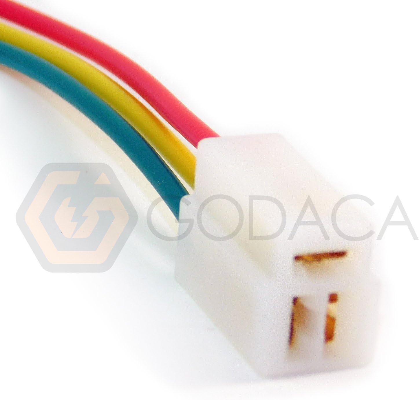 TOYOTA HONDA EXTENSION PLUG WIRING HARNESS LOOM 4 PIN CONNECTORS