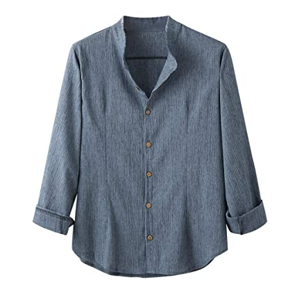 Amazon.com: Camisas deportivas de yoga con botones de manga ...