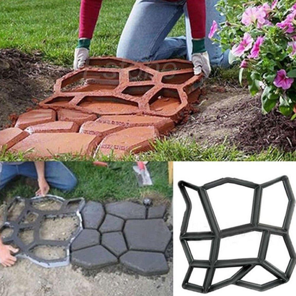 BESTOMZ DIY Molde para Cemento, Molde para Hormigón, Molde para Hacer Pavimentos/Caminos/Suelos de Jardín, Patio, Balcón, Terraza, de Plástico Resistente ...