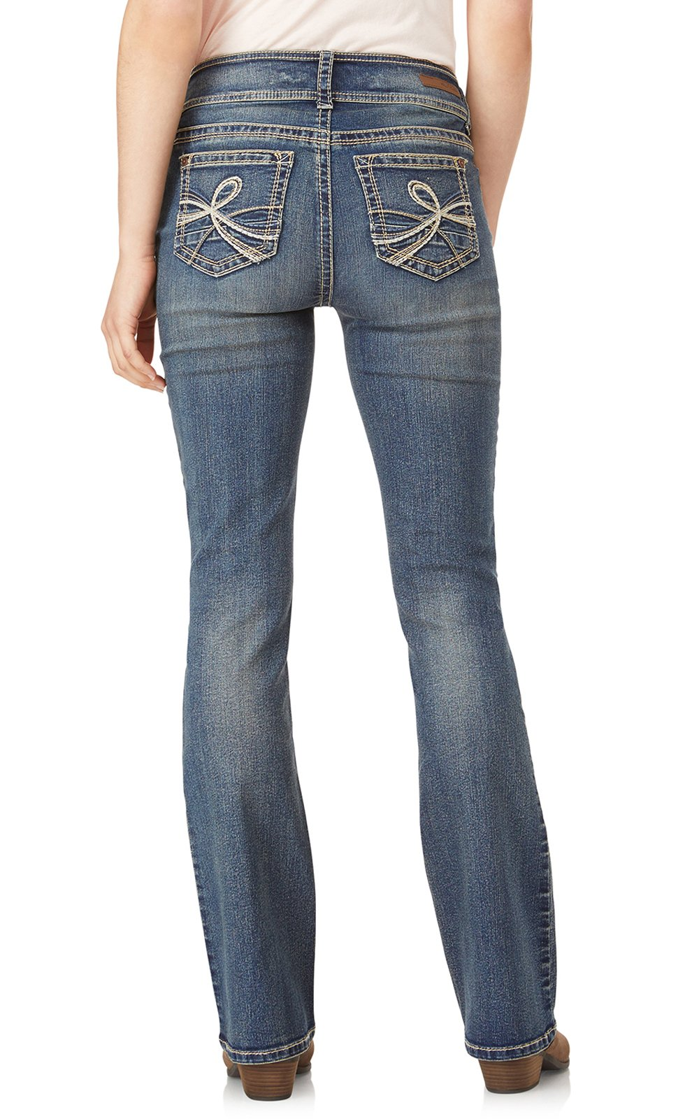 WallFlower Jeans Junior's Petite InstaStretch Luscious Curvy Bootcut, Basil, 3 Short by WallFlower (Image #2)