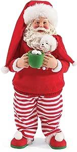 "Department 56 Possible Dreams Santa and His Pets PJ Party Figurine, 10.5"", Multicolor"