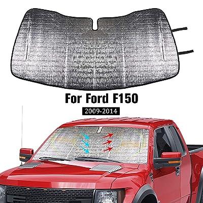 JeCar Windshield Sunshade, Car Front Window Sun Shade Foldable Sun Visor for Ford F150 2009-2014: Automotive