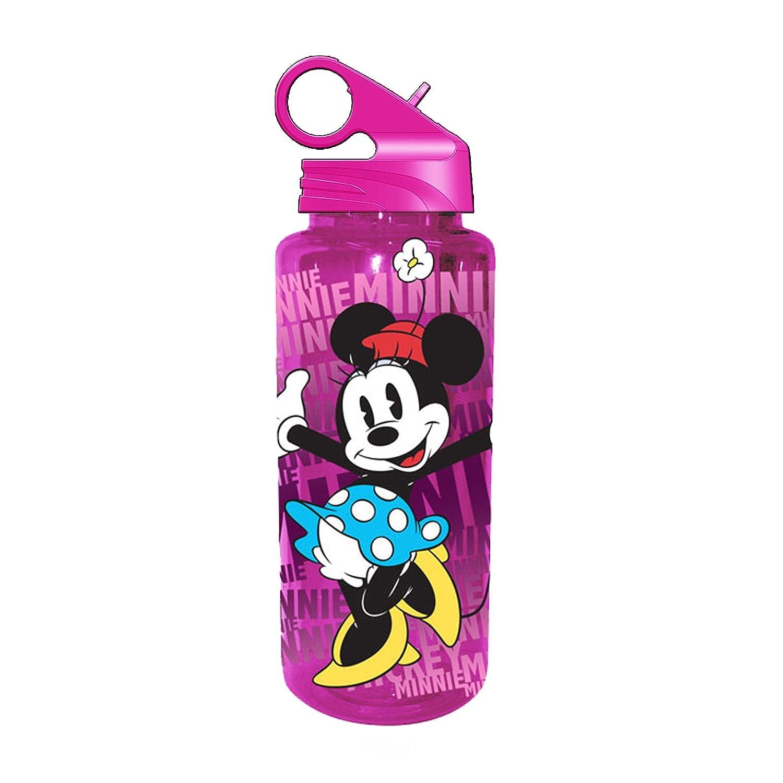 13588717cb Silver Buffalo DL0264 Disney Minnie BPA-Free Tritan Water Bottle, 20 oz.,  Purple by Disney: Amazon.co.uk: Kitchen & Home