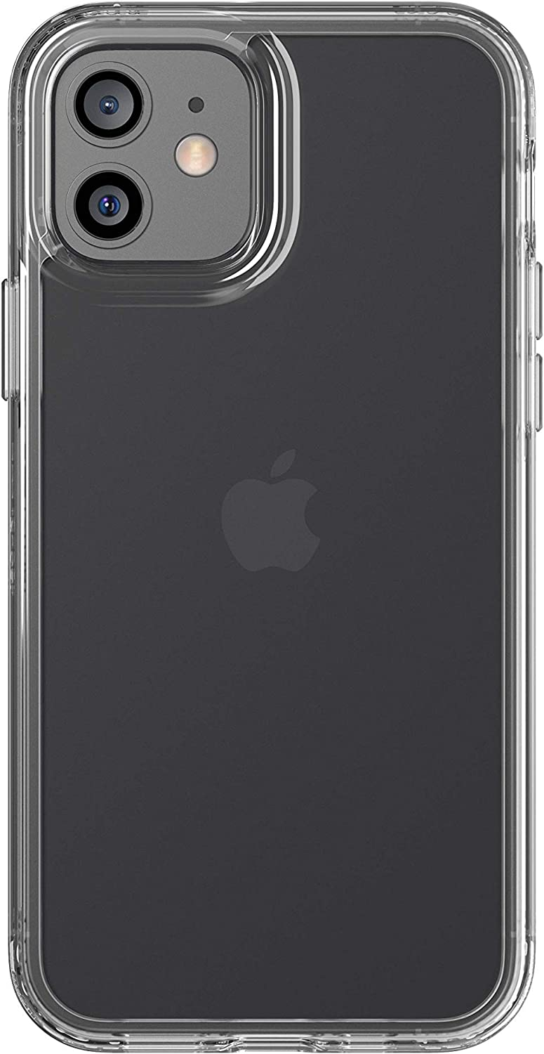 tech21 Evo Clear for Apple iPhone 12 and 12 Pro 5G - Germ Fighting Antimicrobial Phone Case with 10 ft. Drop Protection