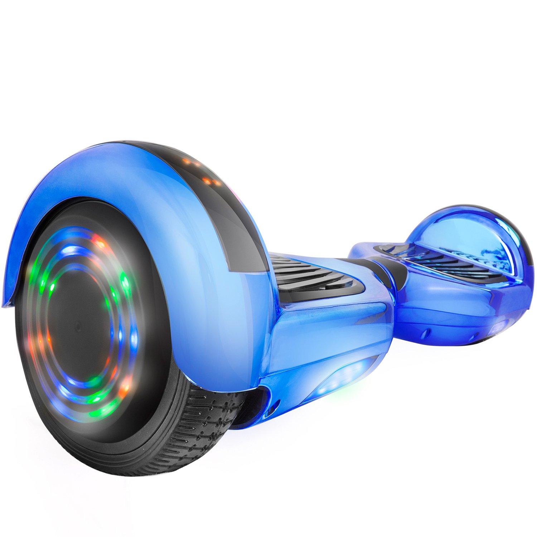 Z1Plus Chrome Self-Balancing Hoverboard w/Bluetooth Speaker, UL2272 Certified (Blue)