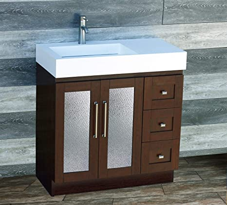 Magnificent 36 Bathroom Vanity 36 Inch Cabinet Solid Surface Top With Integrated Sink Faucet Cm1 Download Free Architecture Designs Scobabritishbridgeorg