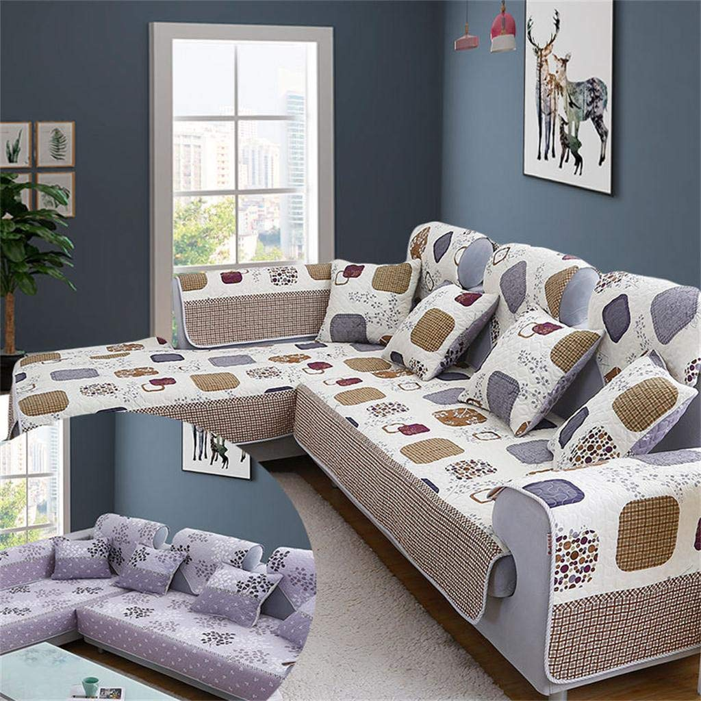 Sofa Cover, FunDiscount Sectional Couch Covers Washable Sofa Slipcover Reversible Double Sided Furniture Settee Seat Cushion Protector for Pet Dogs Cats Love Seat Recliner Loveseat Sofa (70x240cm) by FunDiscount shop