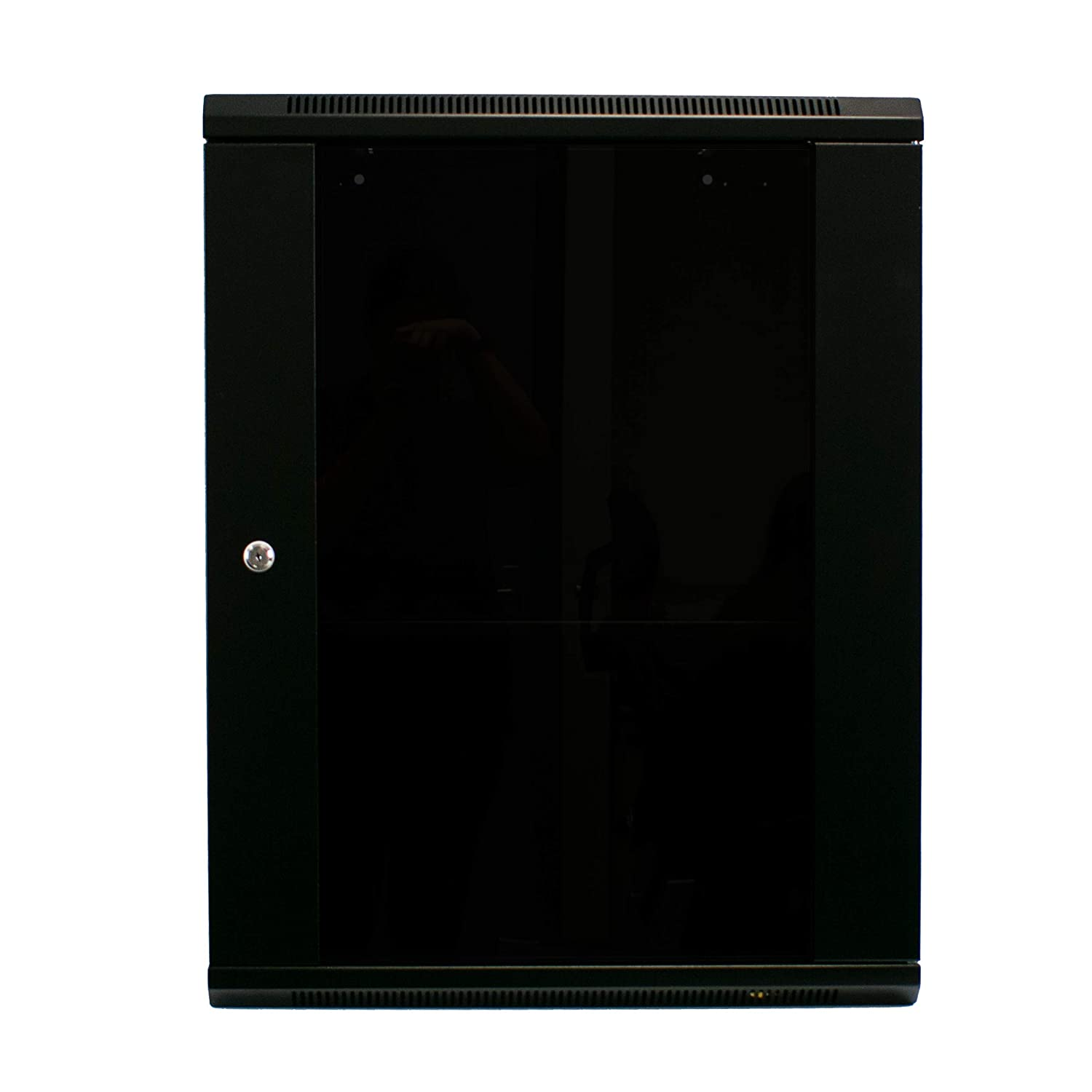 I-CHOOSE LIMITED 15U Server Data Cabinet for Comms 450mm Deep 19-inch Rack with Vented Shelf and Lockable Glass Door